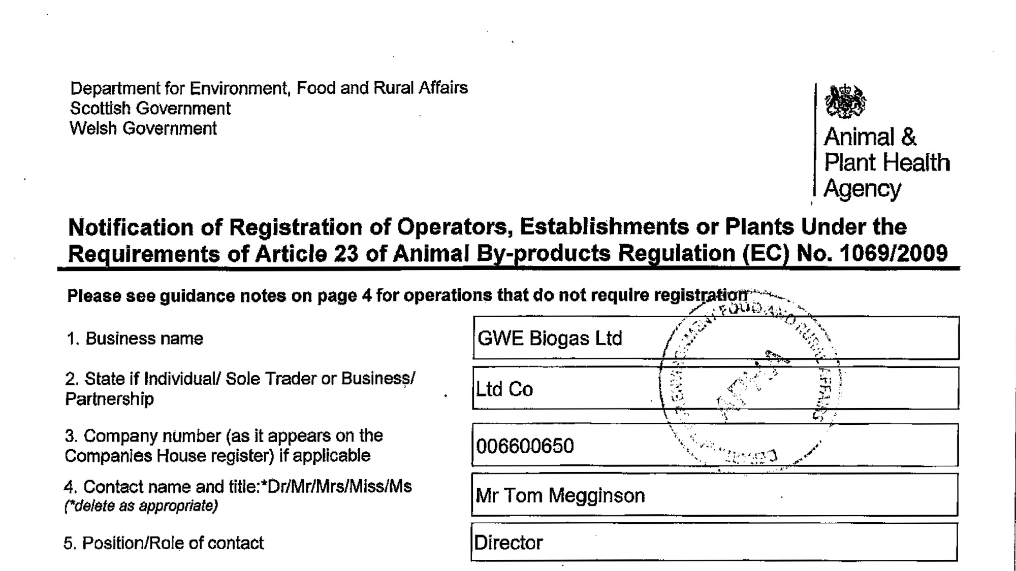 Permits And Certificates Gwe Biogas Food Waste